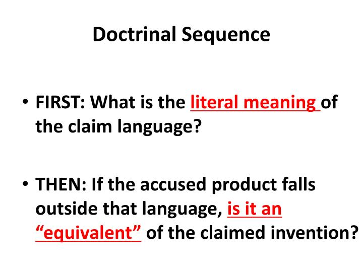 Doctrinal Sequence