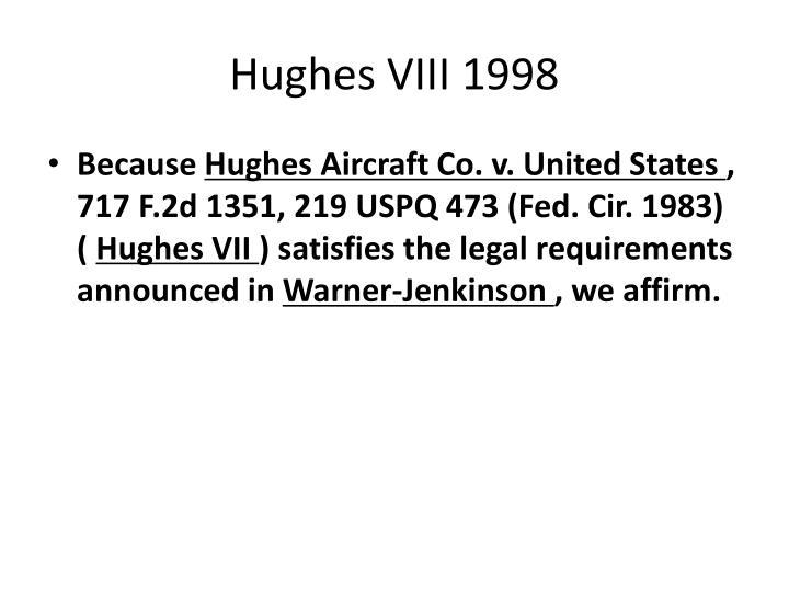 Hughes VIII 1998