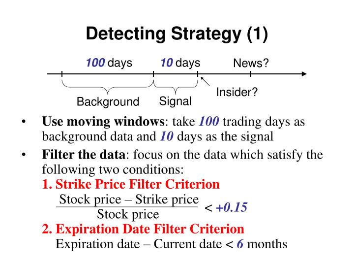 Detecting Strategy (1)