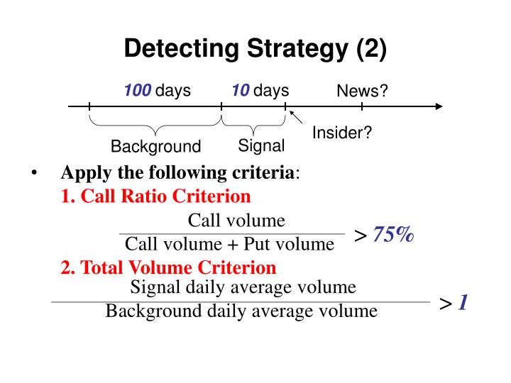 Detecting Strategy (2)