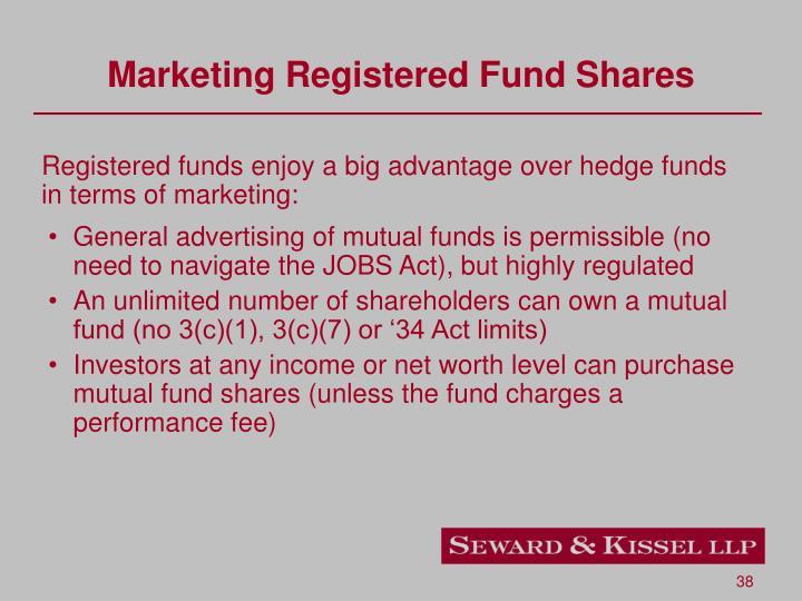 Marketing Registered Fund Shares