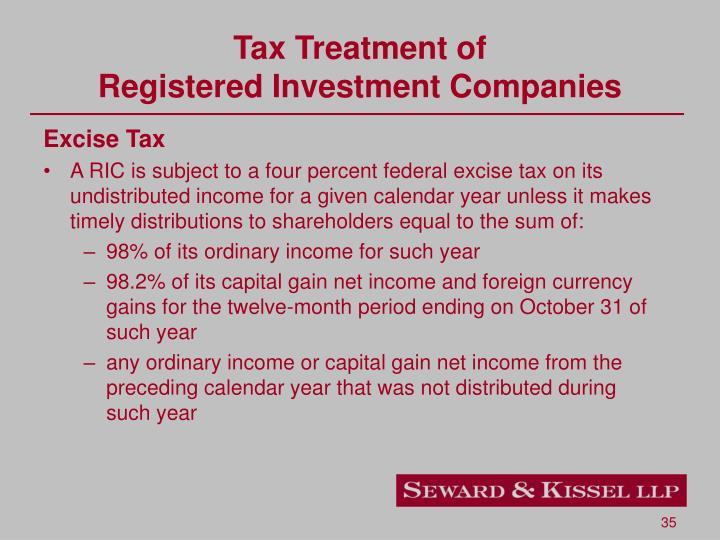 Tax Treatment of