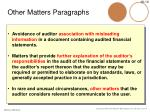 other matters paragraphs