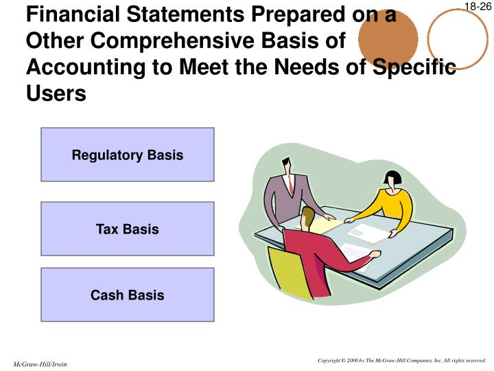 Financial Statements Prepared on a Other Comprehensive Basis of Accounting to Meet the Needs of Specific Users