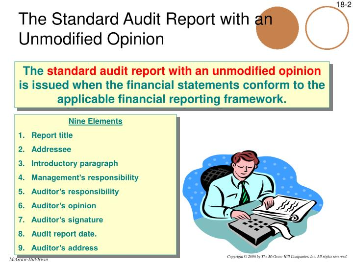 The Standard Audit Report with an Unmodified Opinion
