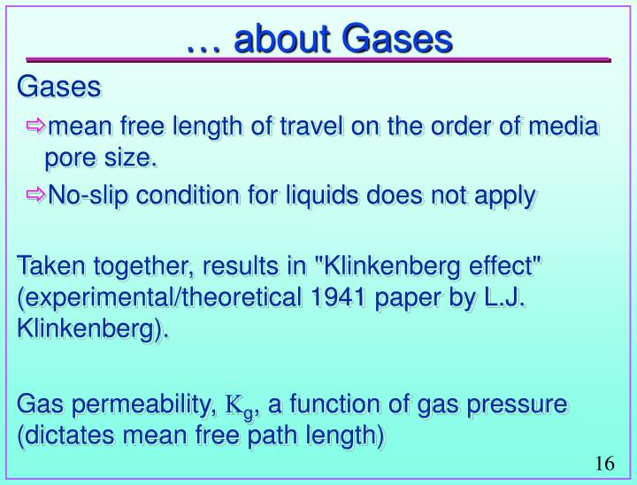 … about Gases