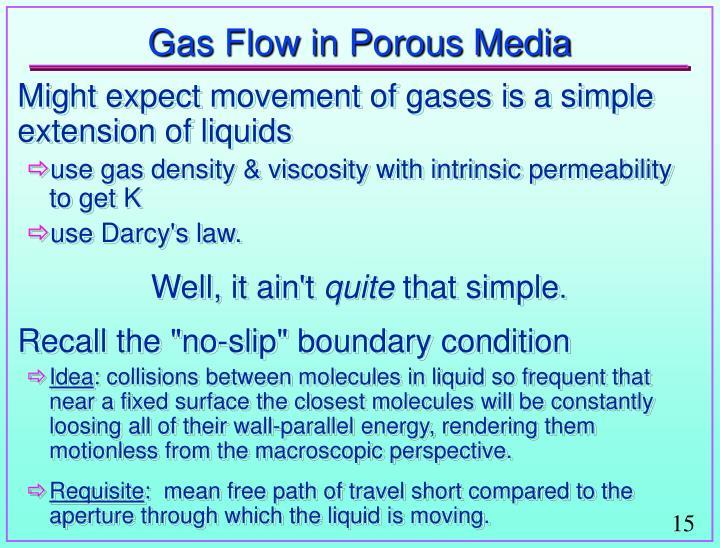 Gas Flow in Porous Media