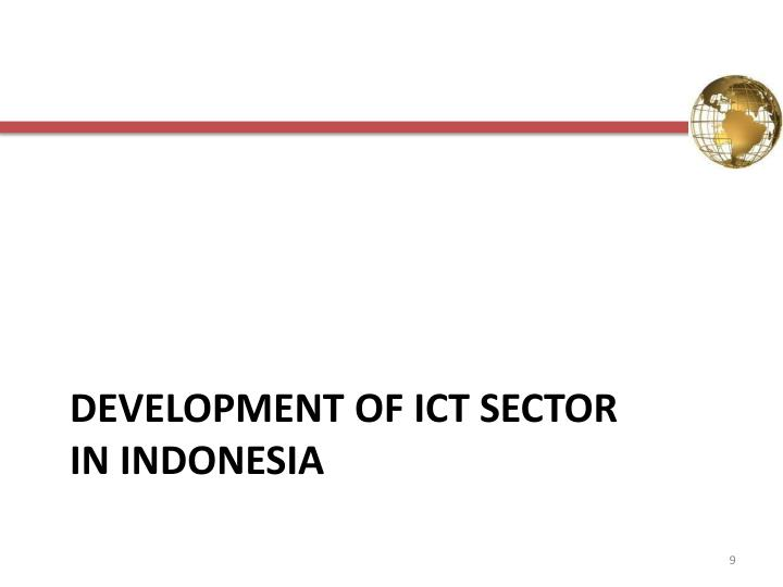 Development of ict SECTOR