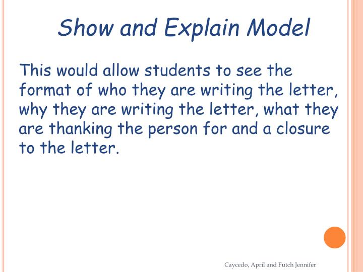 Show and Explain Model
