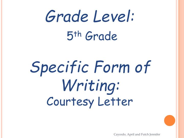 Grade Level: