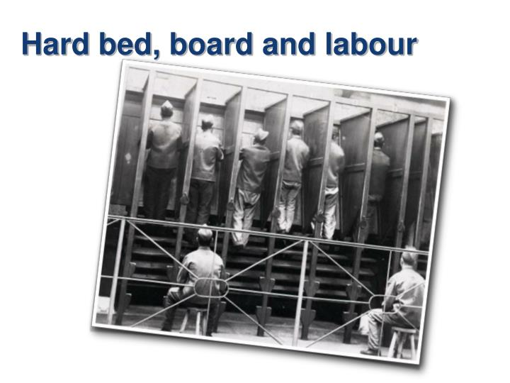 Hard bed, board and labour