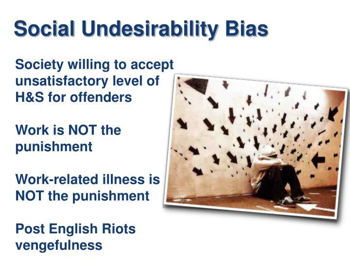 Social Undesirability Bias