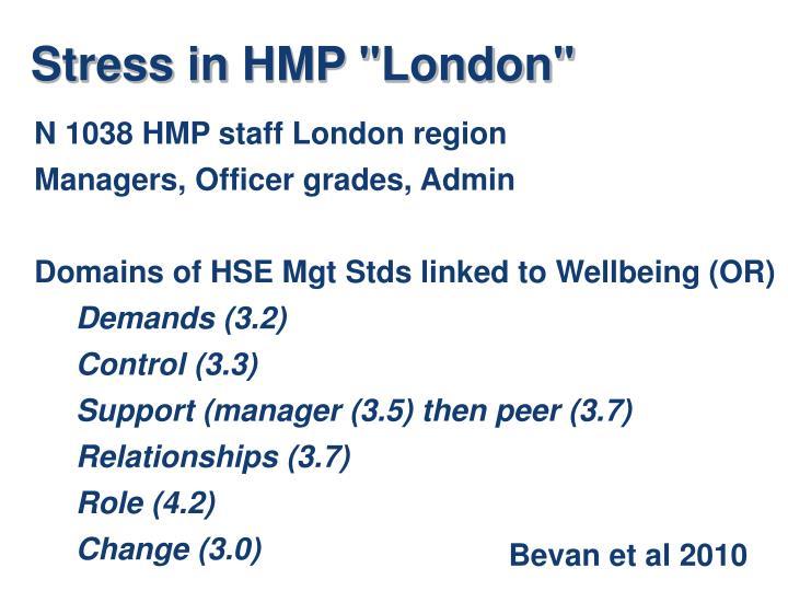 "Stress in HMP ""London"""