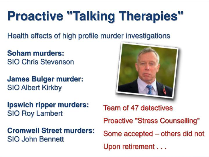 "Proactive ""Talking Therapies"""