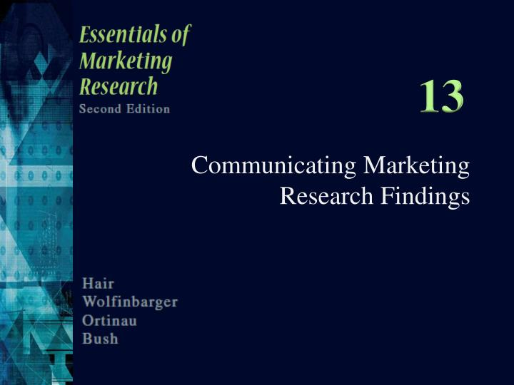 reporting the findings from research