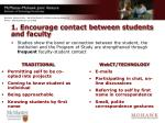1 encourage contact between students and faculty