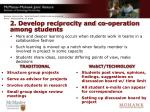 2 develop reciprocity and co operation among students