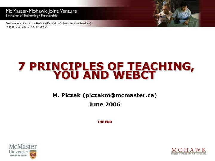 7 PRINCIPLES OF TEACHING,
