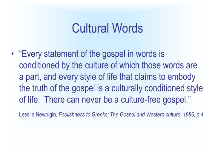 Cultural Words