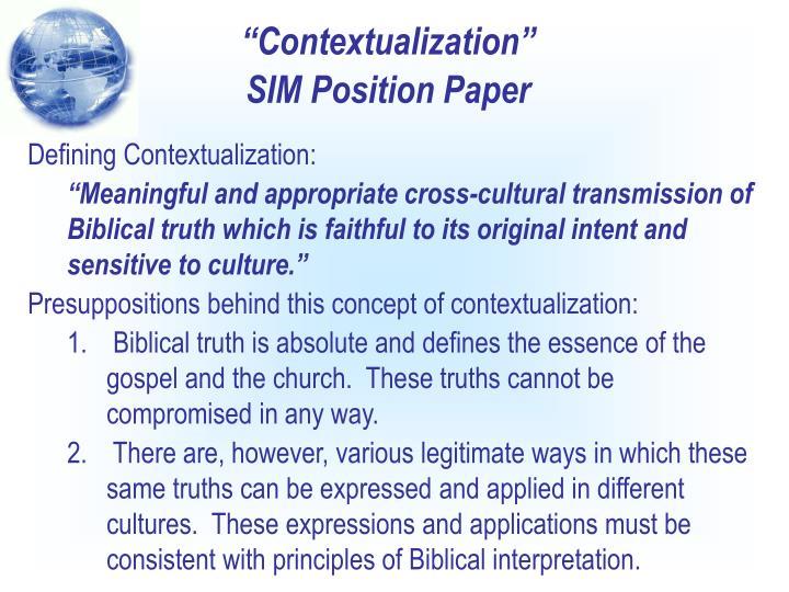 """Contextualization"""