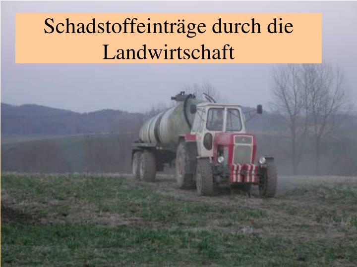 Schadstoffeinträge durch die Landwirtschaft
