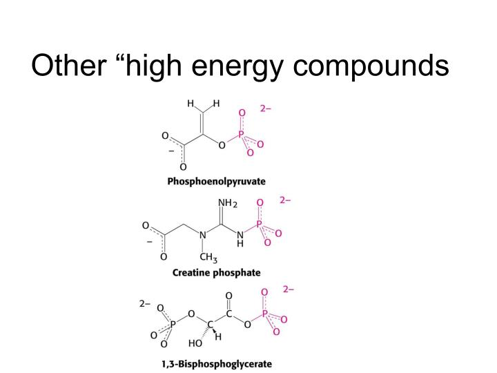 "Other ""high energy compounds"