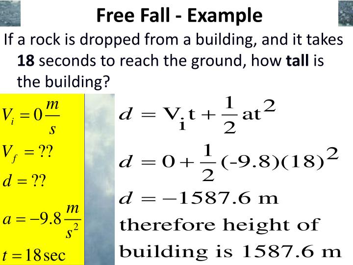 Free Fall - Example