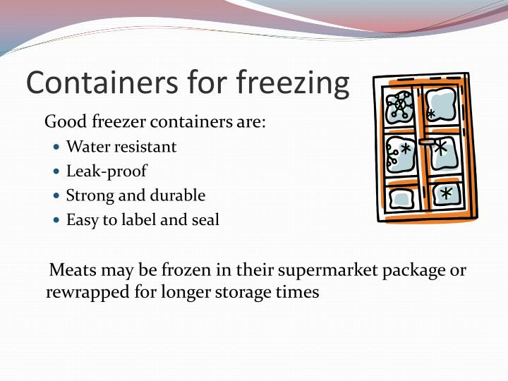 Containers for freezing