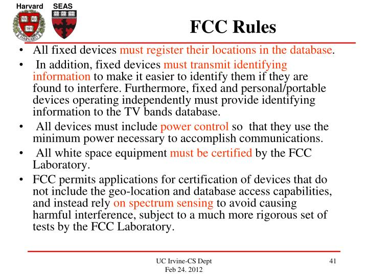 FCC Rules