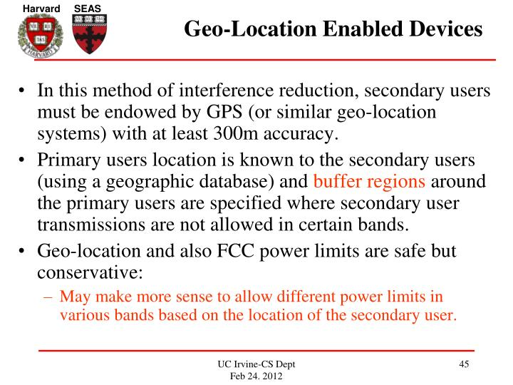 Geo-Location Enabled Devices