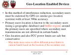 geo location enabled devices