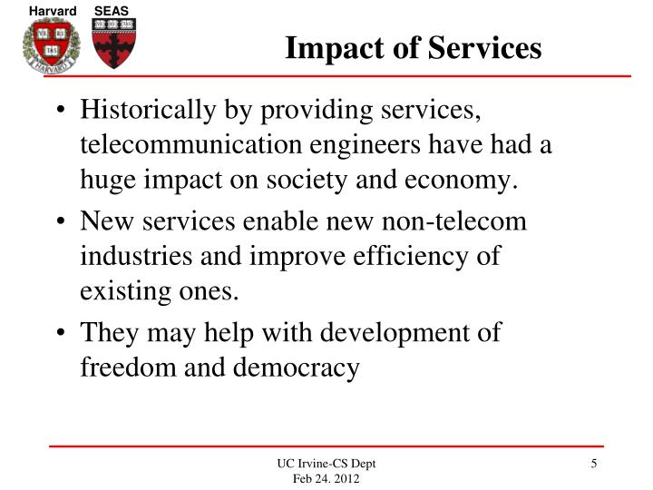 Impact of Services