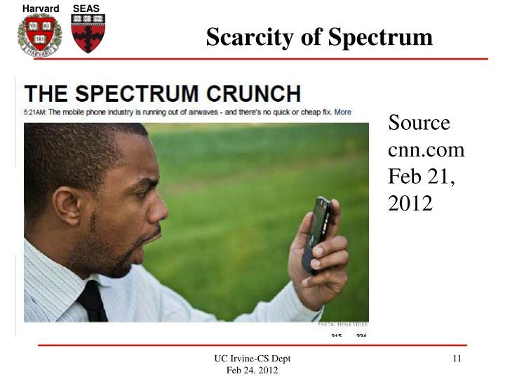 Scarcity of Spectrum