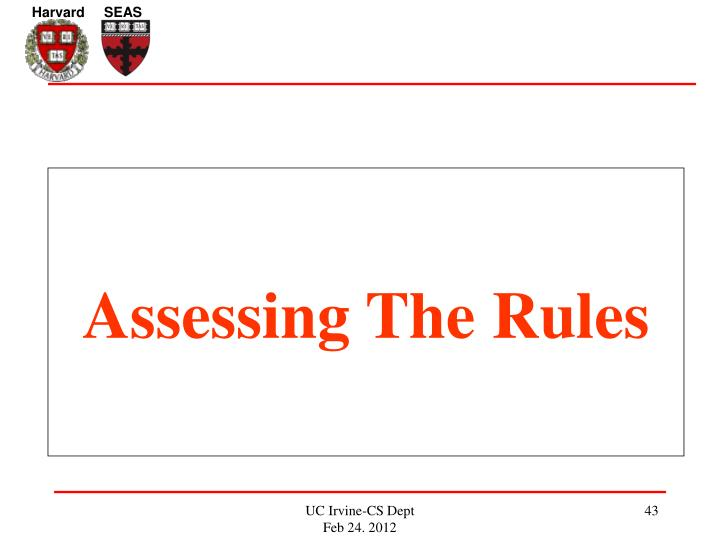 Assessing The Rules