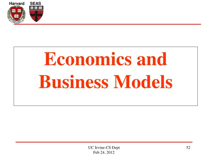 Economics and Business Models