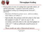 throughput scaling