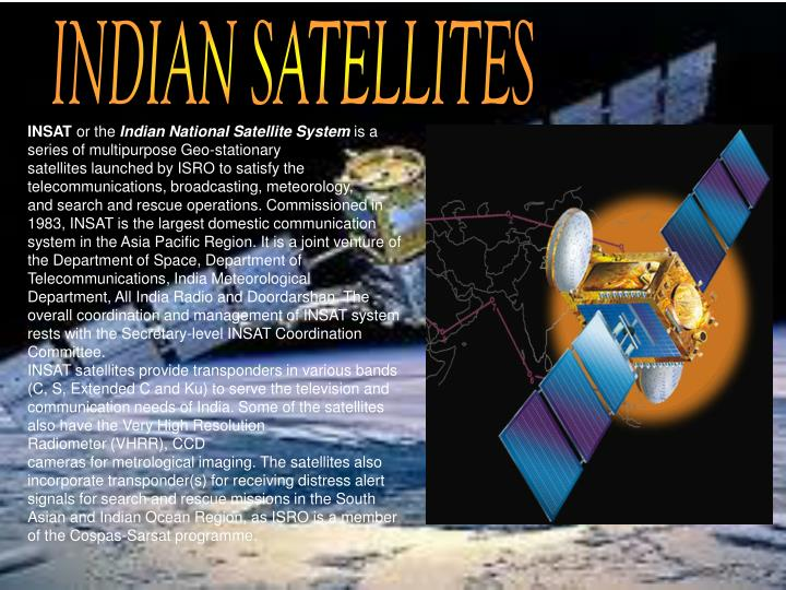 INDIAN SATELLITES
