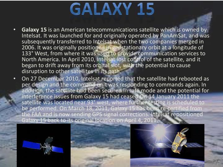 GALAXY 15