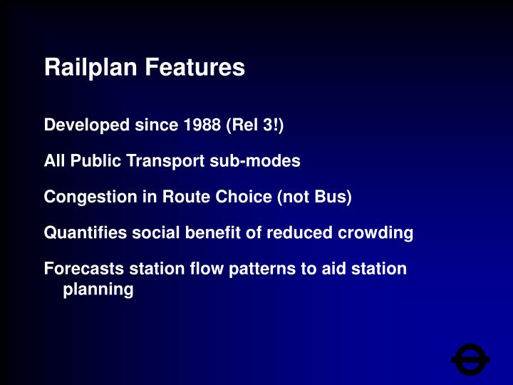 Railplan Features