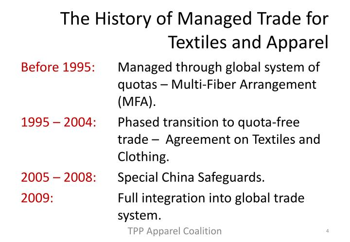 The History of Managed Trade for