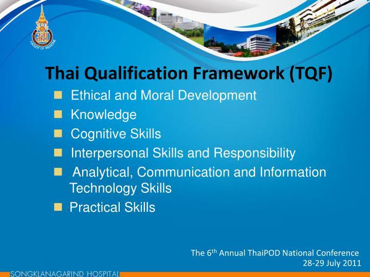 Thai Qualification Framework (TQF)