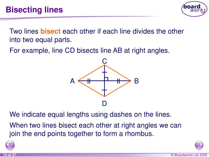 Bisecting lines