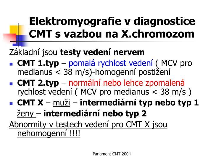 Elektromyografie v diagnostice CMT s vazbou na X.chromozom