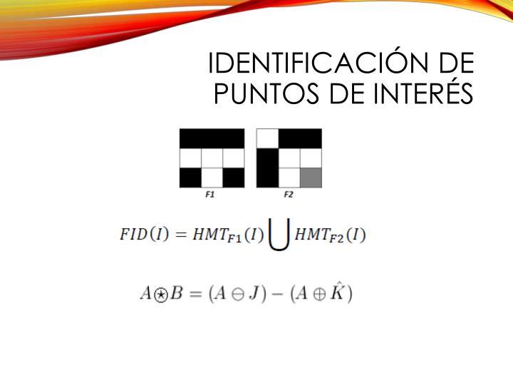identificación de puntos de interés