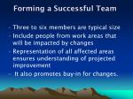 forming a successful team
