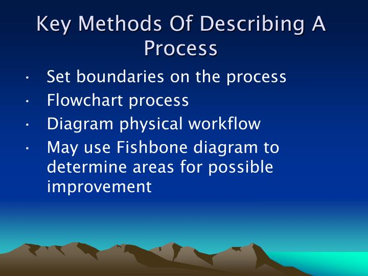 Key Methods Of Describing A Process