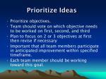 prioritize ideas