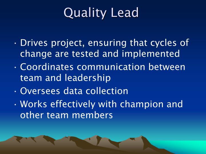 Quality Lead