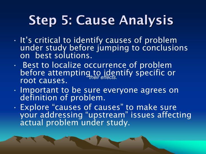 Step 5: Cause Analysis