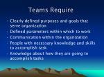 teams require